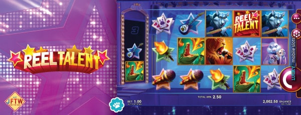 Just for the Win Reel Talent Video Slot