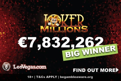 Joker Millions Slot Big Winner From Sweden At LeoVegas