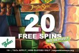 Get Your Mr Green Free Spins On Jingle Spin No Deposit Needed