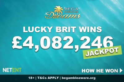 NetEnt Mega Fortune Dreams Slot UK Big Winner