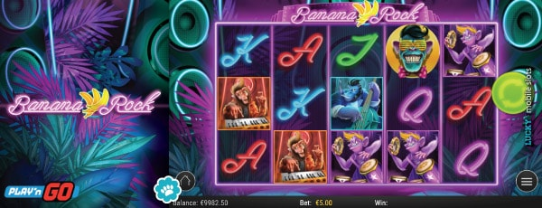 Play'n GO Banana Rock Mobile Slot Preview