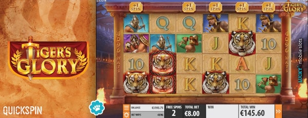 Tigers Glory Slot Machine Free Spins Round