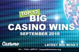 Top Casino Wins At Casumo Casino In September 2018