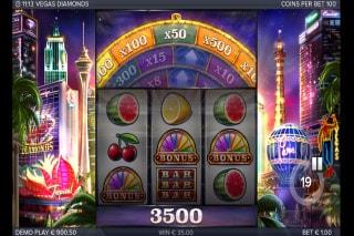 Vegas Diamonds Mobile Slot Bonus Wheel