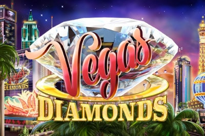 Vegas Diamonds Mobile Slot Logo