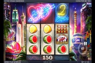 Vegas Diamonds Slot Respins Feature