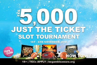 Win Sports Package Or Cash In The Vera&John Slot Tournament