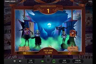 Zombie Circus Slot Bonus Pick