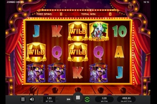 Zombie Circus Mobile Slot Free Spins