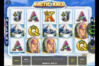 Arctic Race Mobile Slot Game