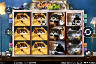 Colin The Cat Mobile Slot Game