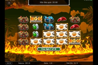 Eggspendables Slot Free Spins