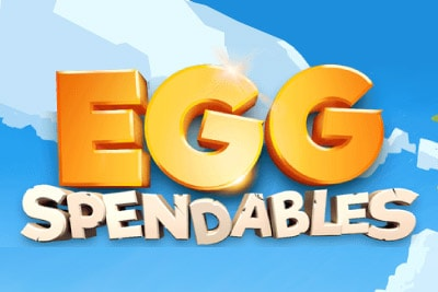 Eggspendables Mobile Slot Logo