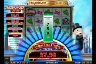 Monopoly 250K Mobile Slot Win