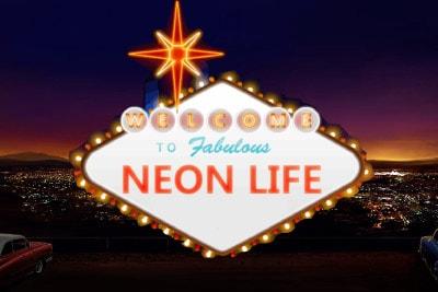 Neon Life Mobile Slot Logo