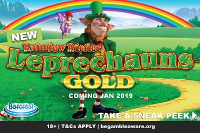 Watch Out The Rainbow Riches Leprechauns Gold Slot Out In January