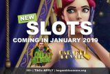 3 New Slots Coming In January 2019
