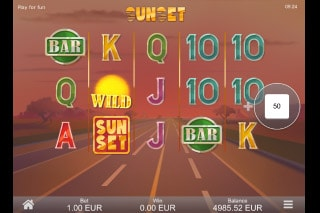 Sunset Mobile Slot Machine
