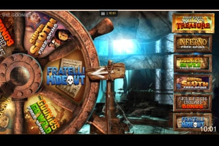 The Goonies Mobile Slot Bonus Wheel