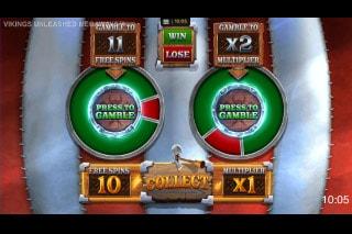Vikings Unleashed Megaways Mobile Slot Gamble Feature