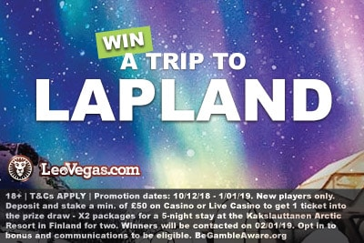Win A Trip To Lapland With LeoVegas Casino
