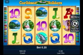 Caribbean Holidays Mobile Slot Game
