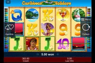 Caribbean Holidays Mobile Slot Win