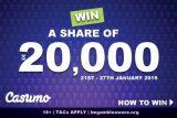 20,000 Casumo Mobil eCasino Cash Drop