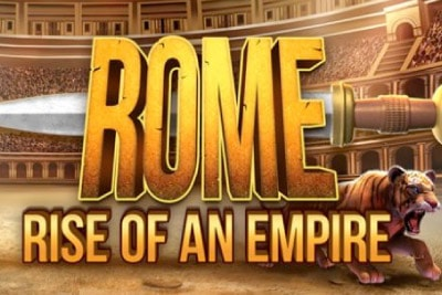 Rome Rise of An Empire Mobile Slot Logo