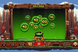 Trolls Bridge Mobile Slot Bonus Pot