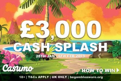 UK Casumo Casino Cash Splash Promo