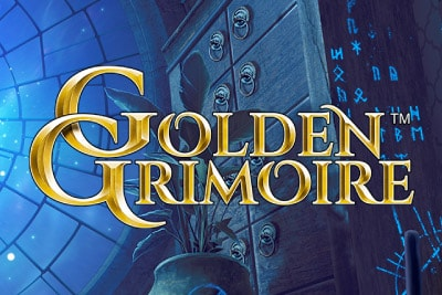 Golden Grimoire Mobile Slot Logo