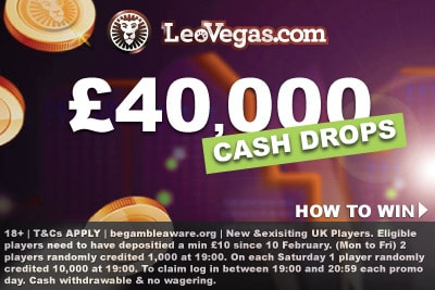 Win Real Cash Prizes In The LeoVegas Casino Cash Drops