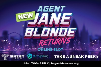 New Agent Jane Blonde Returns Slot Machine Coming March 2019