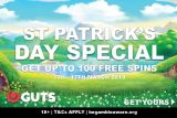 Guts Casino 100 Free Spins St Patrick's Day Special