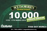 Scudamore's Super Stakes 10,000 Prize Draw At Casumo