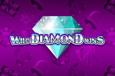 Wild Diamond Wins Mobile Slot Logo