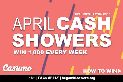 Win 1,000 Every Week In The Casumo Casino April Cash Showers