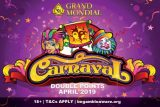 Grand Mondial Casino Carnaval Double Points In April