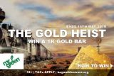 Mr Green Gold Heist Win A 1K Gold Bar Worth 38,000