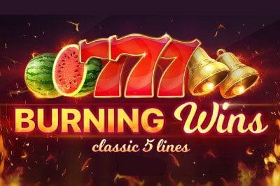 Burning Wins Classic 5 Lines Slot Logo