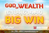 Over 184K God Of Wealth Big Jackpot Win