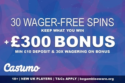 Casumo UK Mobile Casino Bonus With Wager-Free Spins
