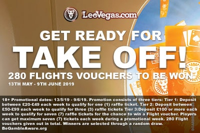 LeoVegas Casino Flight Vouchers Giveaway