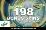 Unlock 198 Mr Green Bonus Spins This May