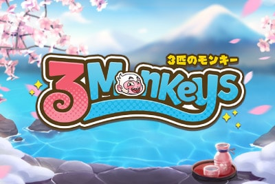 3 Monkeys Mobile Slot Logo