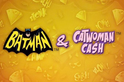 Batman & Catwoman Cash Mobile Slot Logo
