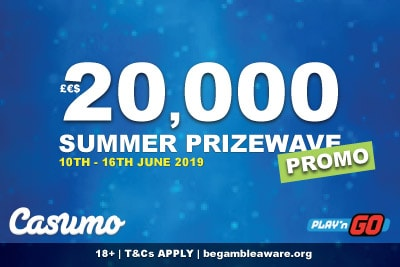 Casumo Mobile Casino Summer Prizewave Promo