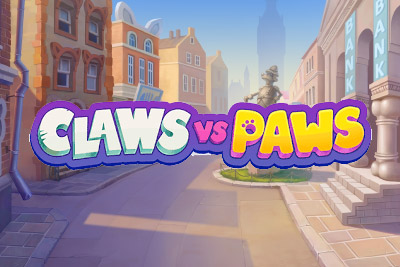 Claws vs Paws Mobile Slot Logo