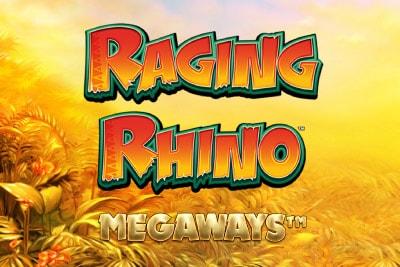 Raging Rhino Megaways Mobile Slot Logo